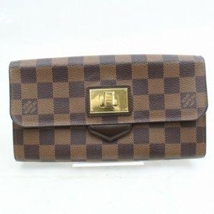💯 Auth Louis Vuitton Portefeiulle Rosebery Damier